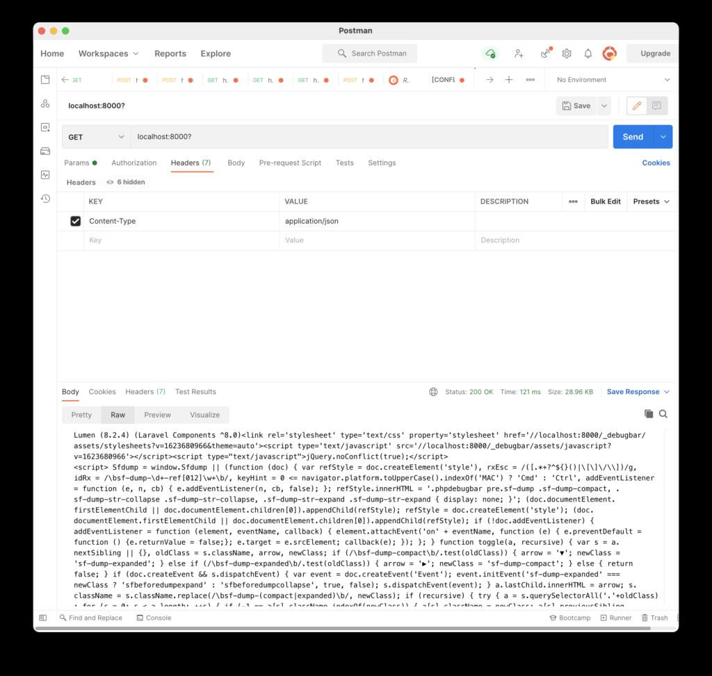 Petición básica desde POSTMAN a la API
